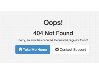 Bootstrap Snippet Simple 404 Not Found Page using HTML CSS Bootstrap
