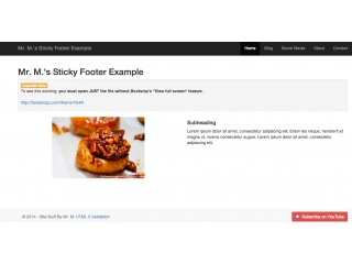 Easy Sticky Footer