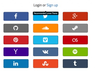 Login With 15 Social Buttons