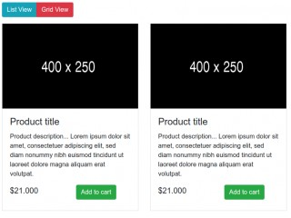 List - Grid View Example On Button Click using Bootstrap 4