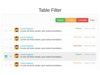 Easy Table Filter