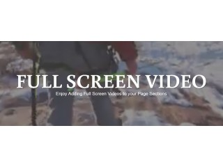 Full Width Screen Video Background