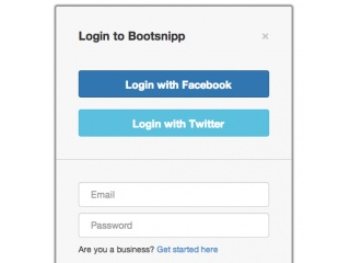 Pinterest like login box
