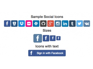 Social Icons / Font Awesome with hover