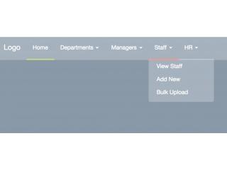 Bootstrap Snippet Rainbow Nav using HTML CSS