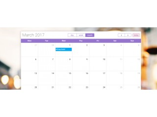 Bootstrap Snippet Calendar Design using HTML CSS Javascript