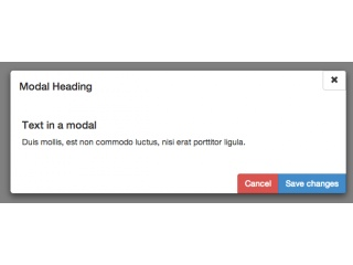 Modified Modal Buttons