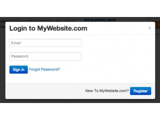 Login form in a modal
