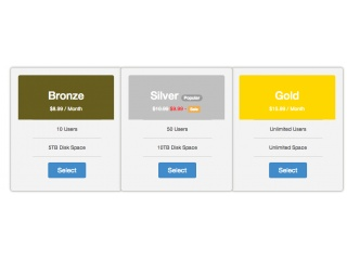 Pricing table (bootstrap 3.0)
