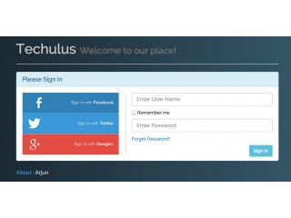 Social Login Page with CSS Background