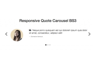 Bootstrap Snippet Responsive Quote Carousel using HTML CSS