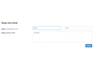 Bootstrap 3.0.0 Contact Form