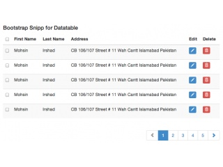 Bootstrap Snippet for Datatable