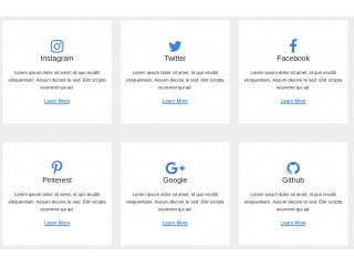 Bootstrap Social Examples