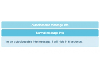 Autocloseable alert message