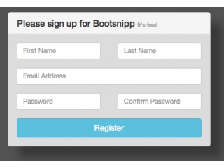bootstrap registration form template