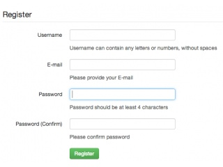 bootstrap 2 registration examples