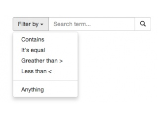 Search Panel with filters