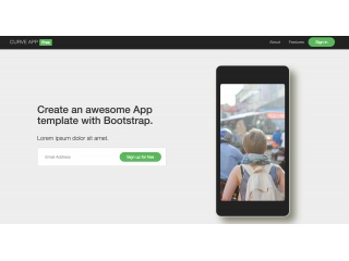 Free App Template for Bootstrap 3