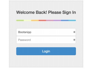 Simple login form - Bootsnipp style colorgraph