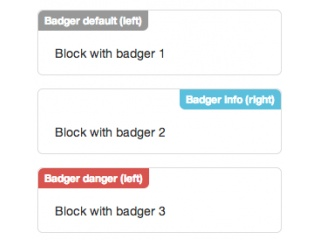 Bootstrap Badger