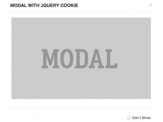 Bootstrap Snippet Modal with jQuery Cookie using HTML jQuery