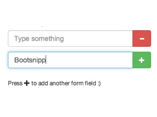 Bootstrap Snippet Dynamic Form Fields - Add & Remove BS3 using HTML