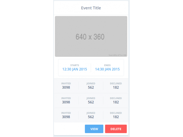 Responsive Data Cards (Bootstrap 4)