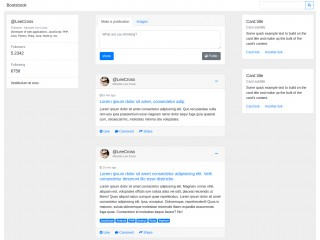social network layout - bootstrap 4