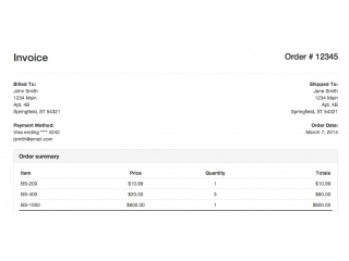 Bootstrap Snippet Simple Invoice Using Html Css Bootstrap