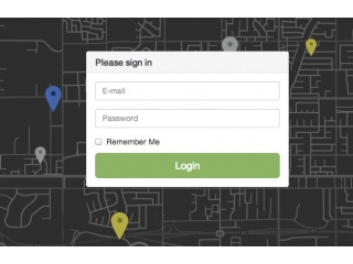 Parallax Login Form