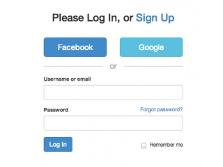 about.me Login Style