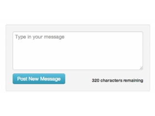Twitter-like message box