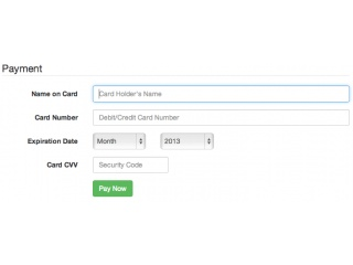 Bootstrap Snippet Credit Card Form Bootstrap 3 Using Html