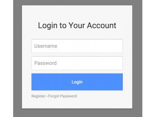 Clean Modal Login Form