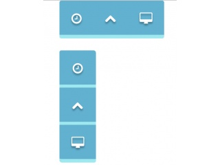 Hover Blue Button Bar