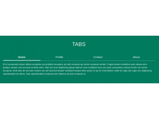 Bootstrap tabs with elegant smooth design using bootstrap 4