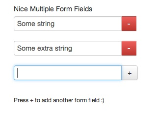 Dynamic Form Fields - Add & Remove