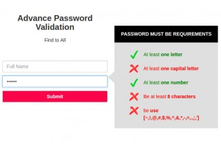 Advance Password Validation