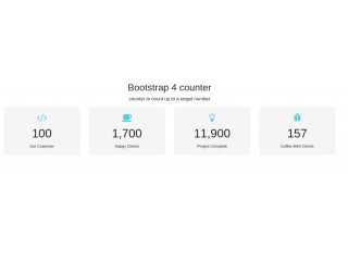 Bootstrap 4 counter