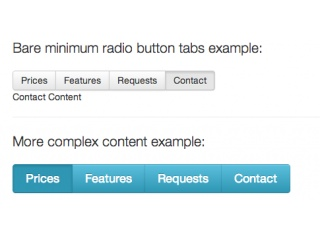 Radio Button Tabs