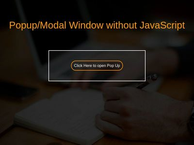 Make a Popup/Modal Window without JavaScript