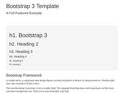 Bootstrap features demo