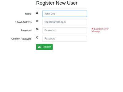 Bootstrap 4 Register Form