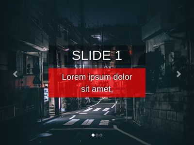 Static Background text slider