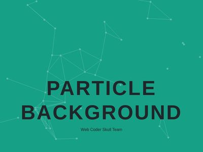 Bootstrap Snippet PARTICLE BACKGROUND using HTML CSS Javascript
