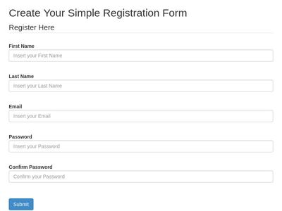 Simple Registration Form