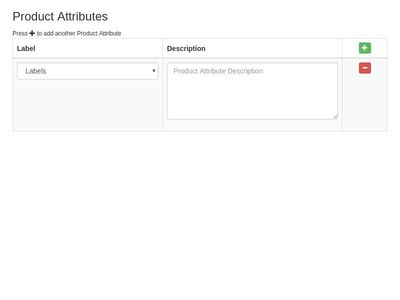 Add & Remove Product Attributes With Dropdown