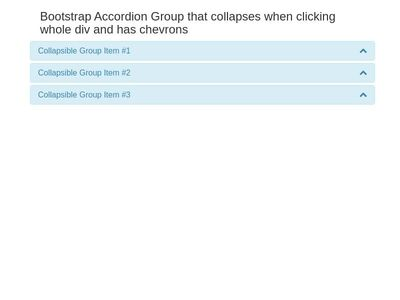 Bootstrap Accordion Group that collapse with chevrons - Moodle 3.3.3