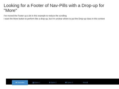 Nav-Pills with Drop-up